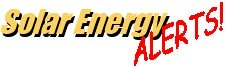 Solar Energy Alerts Newsletter