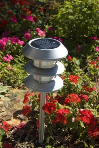 Outdoor Solar Lighting in a Garden